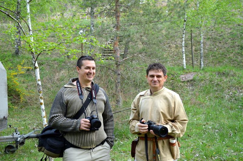 Dunaszekcsői íjászverseny - Spanneberger Imre barátommal és kollégámmal